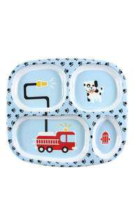 Bumkins Melamine Plate, Fire Engine Toddler Baby Plate