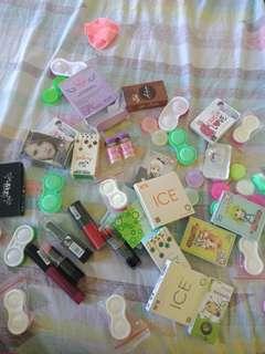 Sale softlens dan lipstick