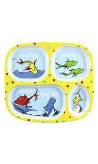 Bumkins Dr. Seuss Melamine Dishware, Yellow One Fish Toddler Baby Plate