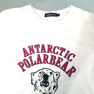 ulzzang antarctic polarbear shirt