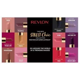 Revlon Street Chic Super Lustrous Lipsticks