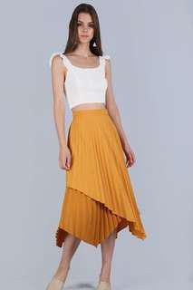 TTR Tanya Pleated Asymmetrical Skirt