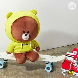 Line Friend Hoodie Brown 熊大 兔兔 巨型 jumbo