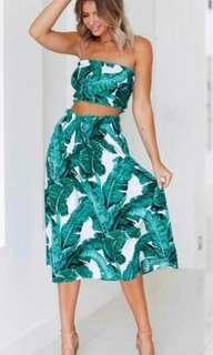 Terno top and skirt