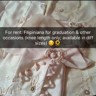 Filipiniana (for rent)