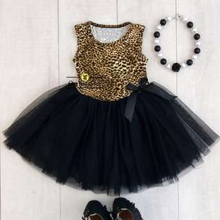 Girl Leopard Tutu Dress