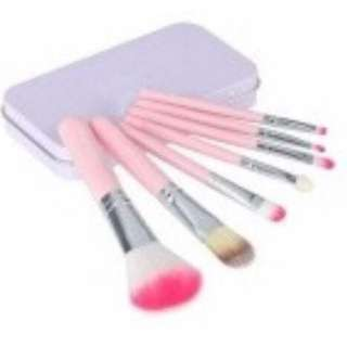 unbranded 7 pcs brush can (pink)