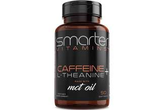 [IN-STOCK] SmarterVitamins KETO 200mg CAFFEINE PILLS with 100mg L-Theanine for Energy, Focus and Clarity + MCT Oil from 100% Coconuts, All Natural Smooth Extended Release in Softgel Capsule Delivery Absorption