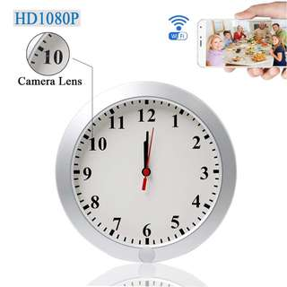 1143. UYIKOO Upgraded 1080P WiFi Wall Clock Camera IP DVR Security Cam Surveillance Cameras P2P Real-time Video Remote View on Your Phone With Motion Detection