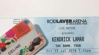 Kendrick Lamar Melbourne 13th July