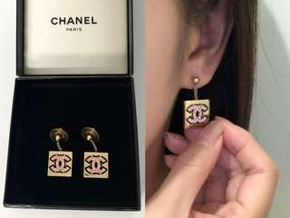 💯真品 Auth Chanel CC logo Earrings 新款可愛粉紅色CC 耳環