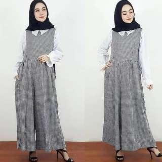 VGC - 0418 - Dress Gamis Busana Muslim Wanita Prisma Overal tnpa khimar