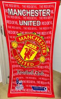 Liverpool Manchester United bath towel