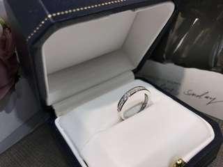 50份鑽石條戒 PR20389 18k鑽石戒指