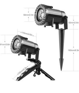 12 patterns switchable lens party projector lights