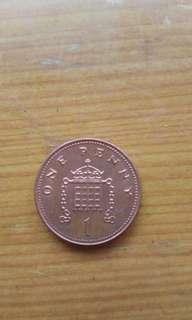 🚚 2004年1英鎊正品