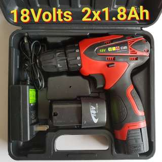 18Volts Double Speed Cordless Drill