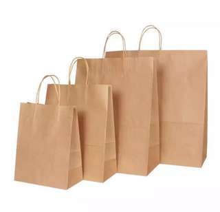 Party Favor Plain Paper Bag Many Sizes