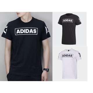 🚚 保證正品✨ adidas 愛迪達 360 短袖 圓領 棉 T恤 男 上衣 黑 白 短t