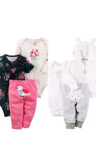 100% Authentic CARTERS Baby Girl Clothing 2 sets of 3pc for 3months