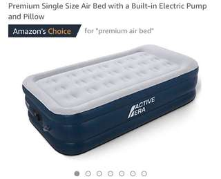 12•Premium Single Size Air Bed with a Built-in Electric Pump and Pillow