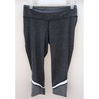 Active & CO Legging Dark Grey List White