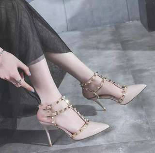 Women Wedding Shoes Woman Pumps High Heels Ankle Strap Sandal Shoes