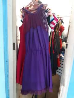 Korean purple dress