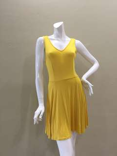 Bright Yellow Skater Dress