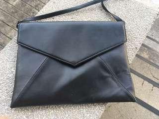 Black Envelope Sling Bag