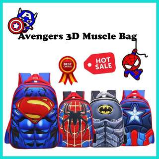 💥Avengers 3D Muscle Kids School Bag💥
