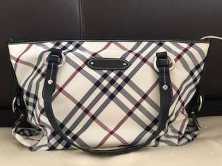 Japan Burberry Blue Label tote!