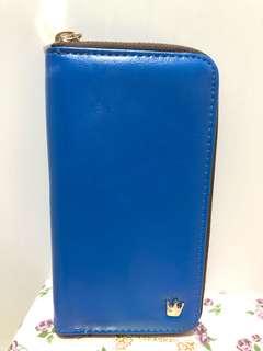 寶藍色 中長夾 藍天小舖購入 全新