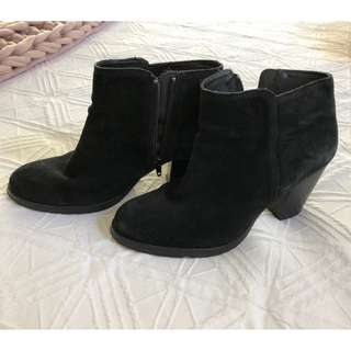 Windsor Smith Black Suede Ankle Boot