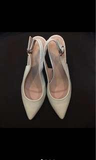 Parishian Mint Green Slip on Heels Size 38