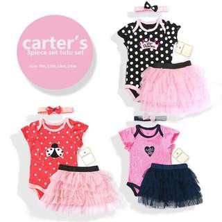 CARTERS BABY GIRL 3PCS TUTU SET