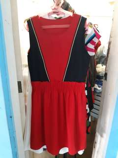 Korean red with black dress