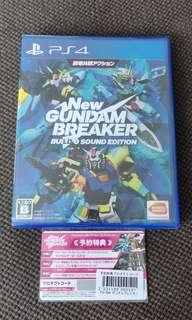 BNIB New Gundam Breaker Build G Sound Edition R2 with DLC