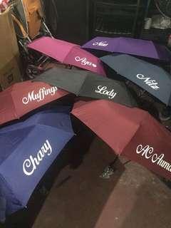 personalize umbrella(pre order)