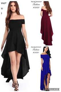 Off Shoulder Long Back Dress