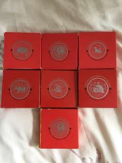 Singapore $10 prooflike coins (7 pc)