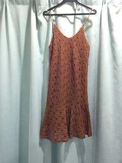 Brown Lacey dress