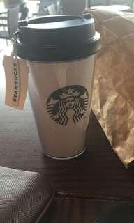 Starbucks tumbler with reciept