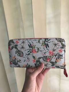 NEGO Stradivarius Wallet - Blue Pink Tropical Long Wallet