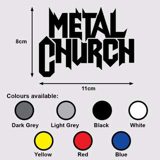 METAL CHURCH Premium Vinyl Sticker (Music Heavy Metal)
