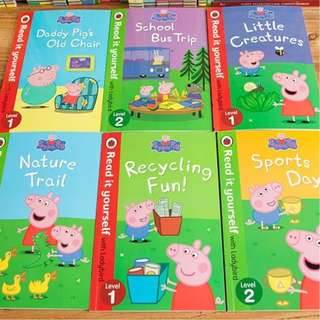 🚚 PEPPA PIG: LADYBIRD 6/10 BOOK SERIES (LEVEL 1+2) READ IT YOURSELF (FREE DELIVERY)