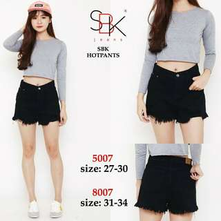 Size 31-34 SBK 8007 HOTPANTS HW (HIGHWAIST)