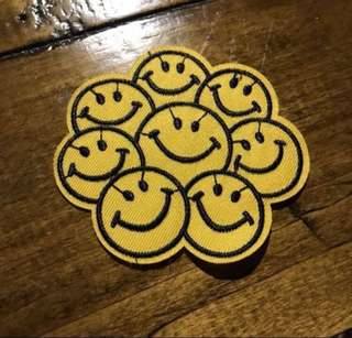 Sew on patch smiley