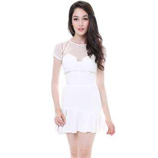 MDS Evelynn white dress