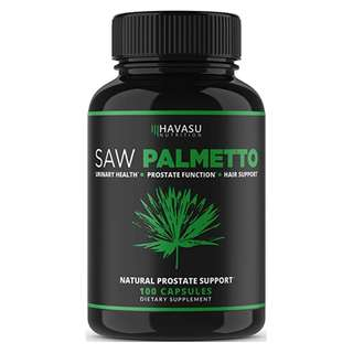 [IN-STOCK] Havasu Nutrition Extra Strength Saw Palmetto Supplement & Prostate Health - Prostate Support Formula to Reduce Frequent Urination and DHT Blocker to Prevent Hair Loss - Non GMO, GLUTEN FREE Prostate Supplement